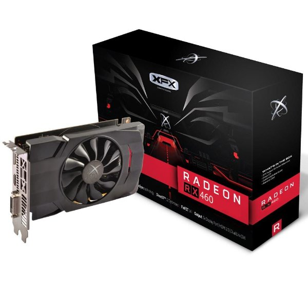 Placa de Vídeo AMD RX 460 - 2gb DDR5 - 128 Bits XFX RX-460P2SFG5