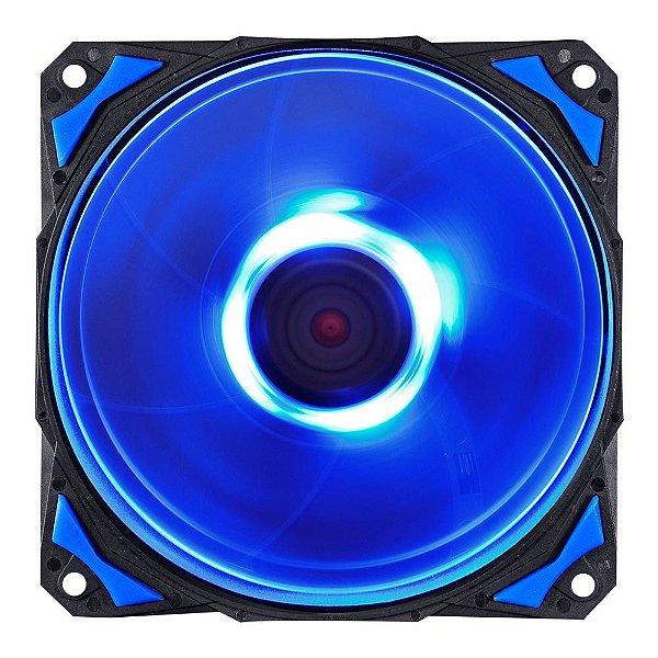 Cooler FAN PcYes Fury F4 120mm 1700 RPM Led Azul F4120LDAZ