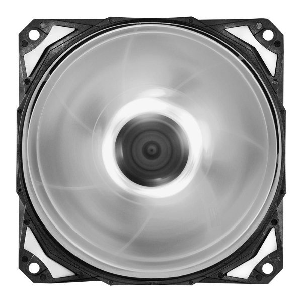 Cooler FAN PcYes Fury F4 120mm 1700 RPM Led Branco F4120LDBC