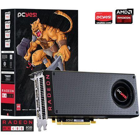 Placa de Vídeo AMD Radeon RX 480 8gb DDR5 - 256 Bits PCYES PRX48025608D5