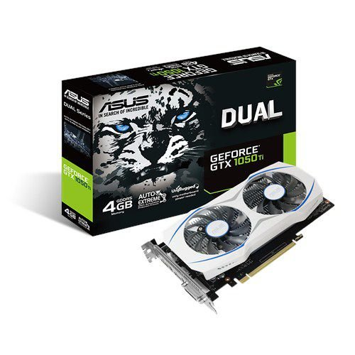 Placa de Vídeo Geforce GTX 1050TI ASUS DUAL 4gb DDR5 - 128 Bits DUAL-GTX1050TI-4G