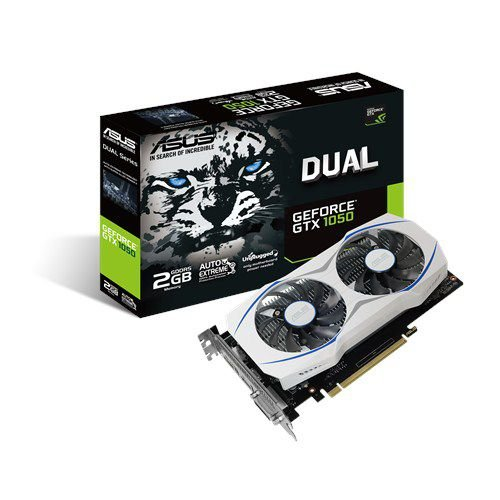 Placa de Vídeo Geforce GTX 1050 ASUS DUAL 2gb DDR5 - 128 Bits DUAL-GTX1050-2G