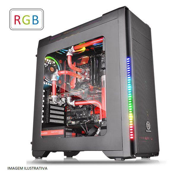 Gabinete ATX Gamer Thermaltake Versa C21 RGB Black C/ Acrílico e USB 3.0 Frontal