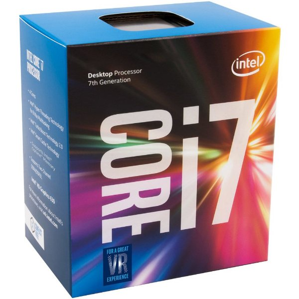 Processador Intel Core I7 Kaby lake 7700 - 3.6 Ghz (4.2 GHZ TURBO MAX) C/ 8Mb Cache BOX LGA 1151 BX80677I77700