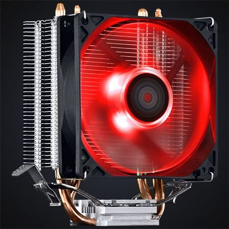Cooler Para Processador Universal Intel e AMD Fan 80 MM PCYES Zero K Z2 LED RED ACZK292LDV