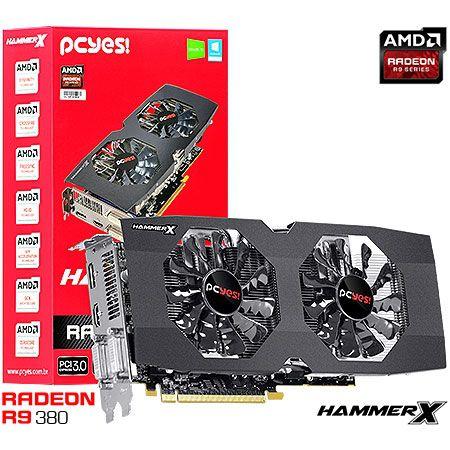 Placa de Vídeo AMD Radeon R9 380 HammerX 2gb DDR5 - 256 Bits PCYES PH38025602D5OC