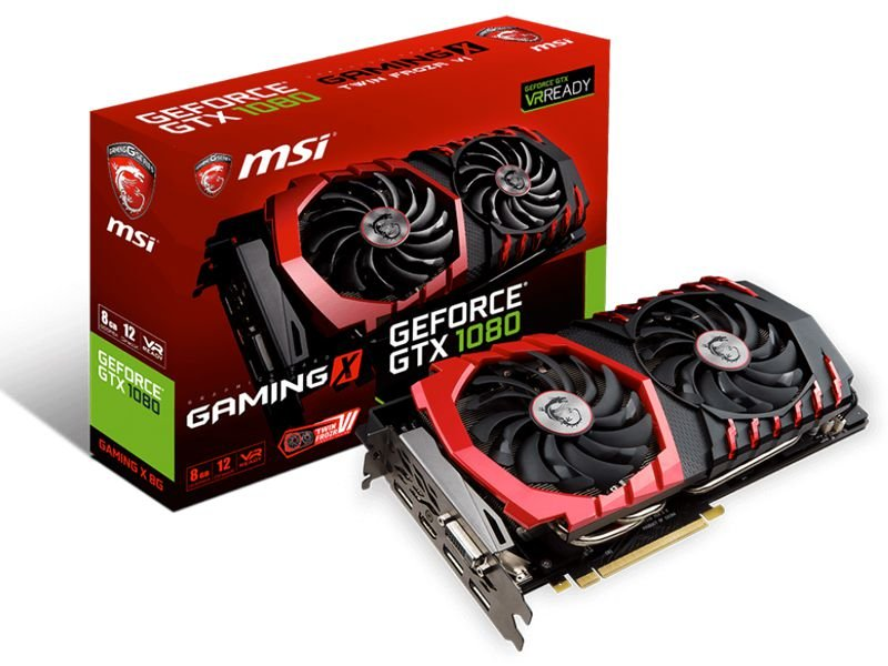 Placa de Vídeo Geforce GTX 1080 MSI Gaming X 8gb DDR5 - 256 Bits 912-V336-001