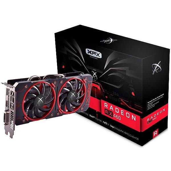 Placa de Vídeo AMD RX 460 - 2gb DDR5 - 128 Bits XFX RX-460P2DFG5