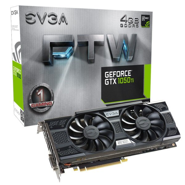 Placa de Vídeo Geforce GTX 1050TI FTW 4gb DDR5 - 128 Bits EVGA 04G-P4-6258-KR
