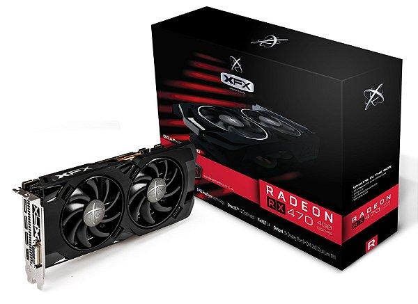 Placa de Vídeo AMD Radeon RX 470 - 4gb RS DDR5 - 256 Bits XFX RX-470P4LFB6