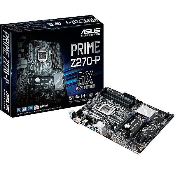 Placa Mãe ASUS Prime Z270-P DDR4 Socket LGA 1151