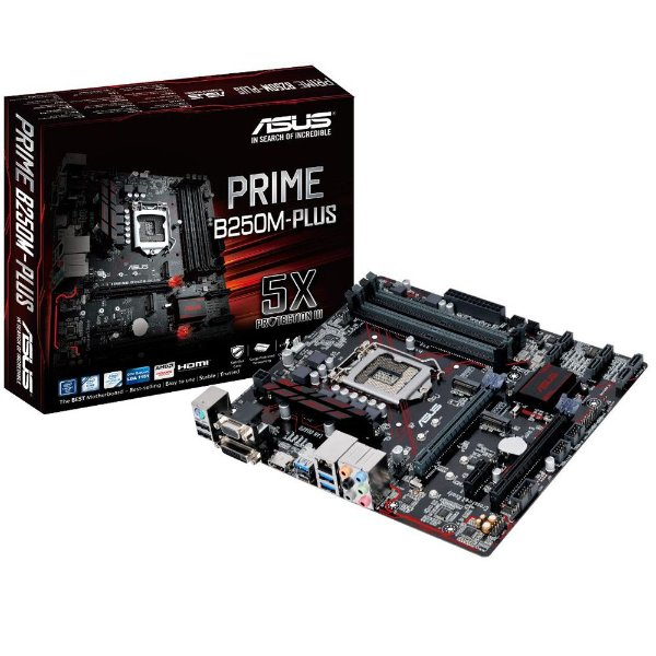 Placa Mãe ASUS B250M-PLUS P/ Intel Socket LGA 1151