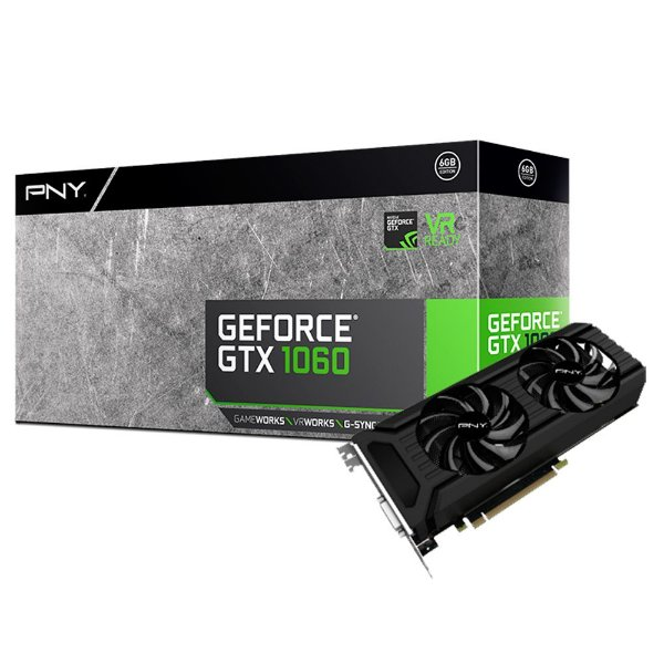 Placa de Vídeo Geforce GTX 1060 - 3gb GDDR5 - 192 Bits PNY VCGGTX10603PB