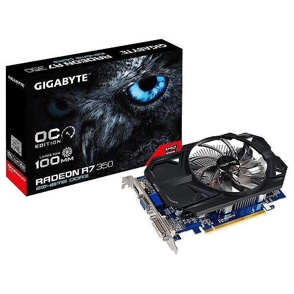 Placa de Vídeo AMD Radeon R7 350 OC 2gb DDR3 - 128 Bits Gigabyte GV-R735OC-2Gi