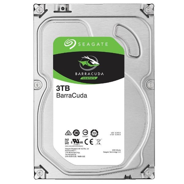 HD 3 Teras P/ Desktop Sata 6gbs 64MB Cache Seagate Barracuda 7200 RPM ST3000DM008