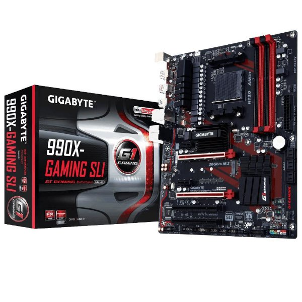 Placa Mãe Gigabyte 990X-Gaming SLI P/ AMD Socket AM3+
