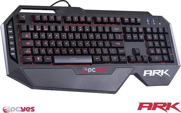 Teclado Gamer PCYES ARK ABNT2 - 7 Cores com Teclas de Macro e Função Multimídia