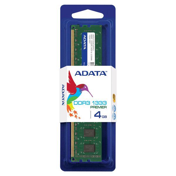 Memória 4gb DDR3 1333 Mhz P/ Desktop ADATA AD3U1333W4G9-S