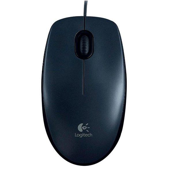 Mouse Logitech Com Fio M90 Preto