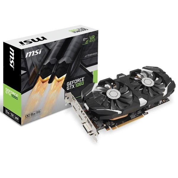 Placa de Vídeo Geforce GTX 1060 OC 6gb GDDR5 - 192 Bits MSI V1 GTX 1060 6GT OC