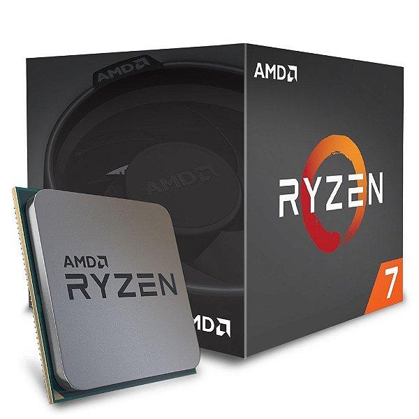 Processador AMD Ryzen 7 1700 OctaCore 3.0 Ghz (3.7GHz Max Turbo)  C/ 20MB Cache AM4 - AM4 YD1700BBAEBOX