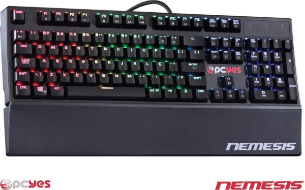 Teclado Gamer Mecânico PCYES NEMESIS COM LED RGB