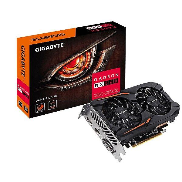 Placa de Vídeo AMD Radeon RX 560 OC 4gb GDDR5 - 128 Bits Gigabyte GV-RX560GAMINGOC-4GD