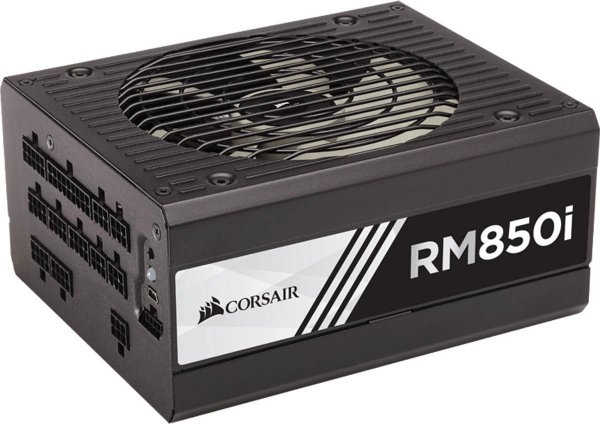 Fonte ATX 850 Watts Potência Real FULL Modular C/ PFC Ativo CORSAIR RM850i - 80% Plus GOLD