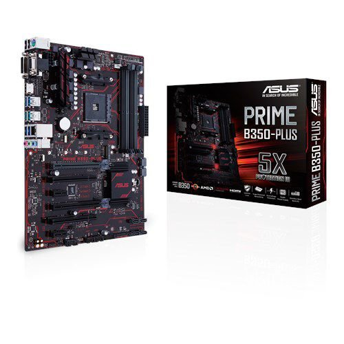 Placa-Mãe ASUS p/ AMD AM4 ATX PRIME B350-PLUS DDR4