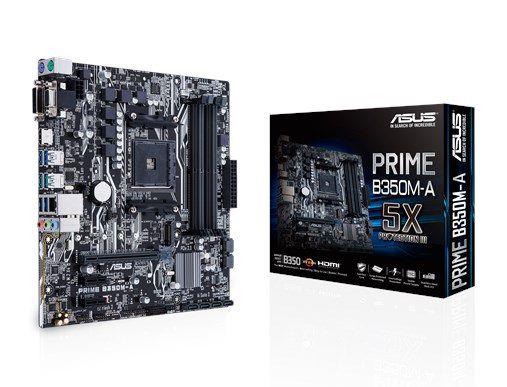 Placa-Mãe ASUS p/ AMD AM4 ATX PRIME B350M-A DDR4