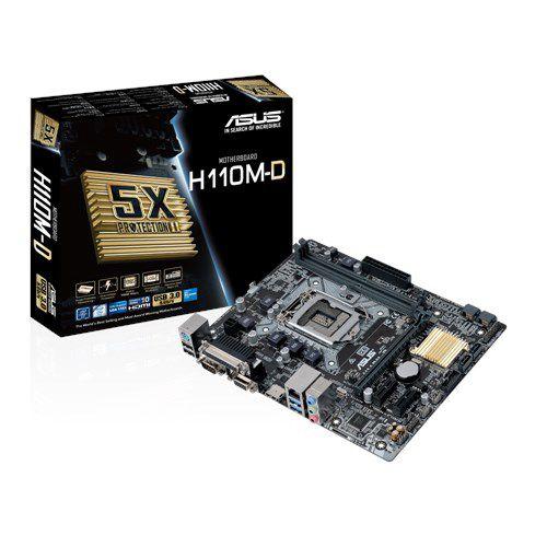Placa Mãe ASUS H110M-D P/ Intel Socket LGA 1151