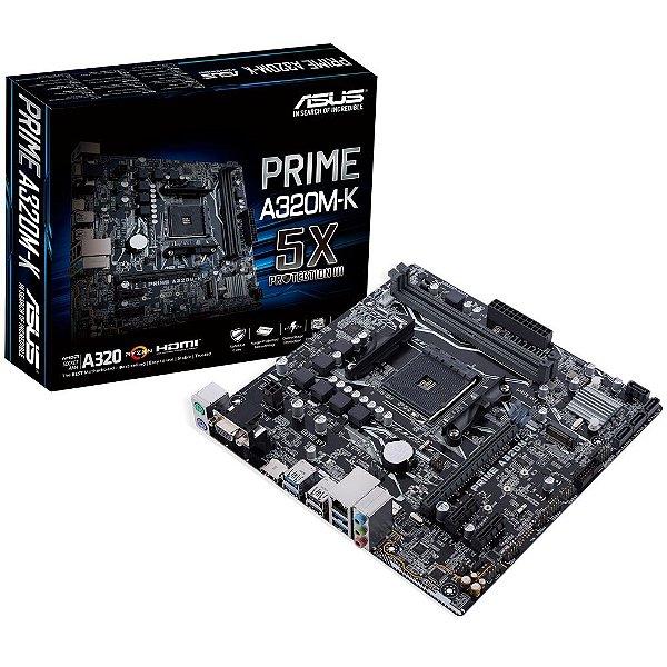 Placa Mãe ASUS PRIME A320M-K/BR P/ AMD Socket AM4