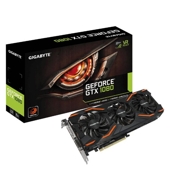 Placa de Vídeo Geforce GTX 1080 D5X 8gb GDDR5 - 256 Bits Gigabyte GV-N1080D5X-8GD