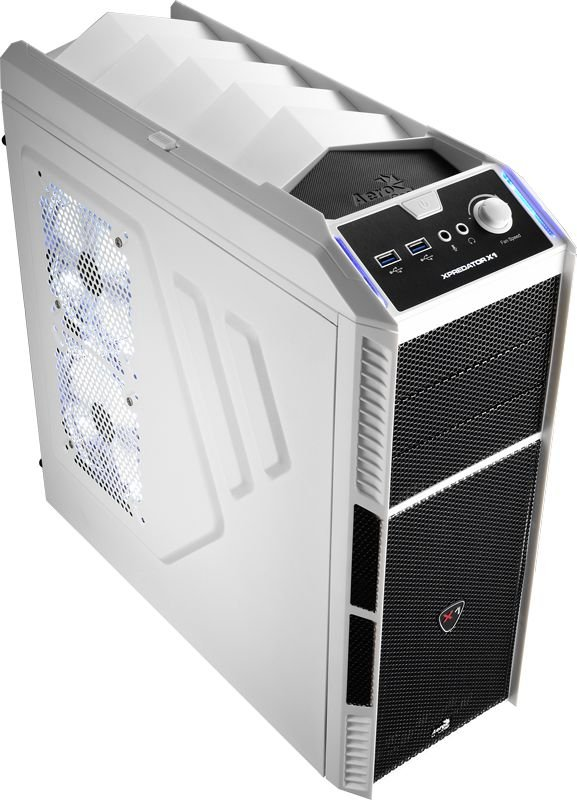 Gabinete ATX Gamer AEROCOOL C/ USB 3.0 Frontal XPREDATOR X1 BRANCO EN57080