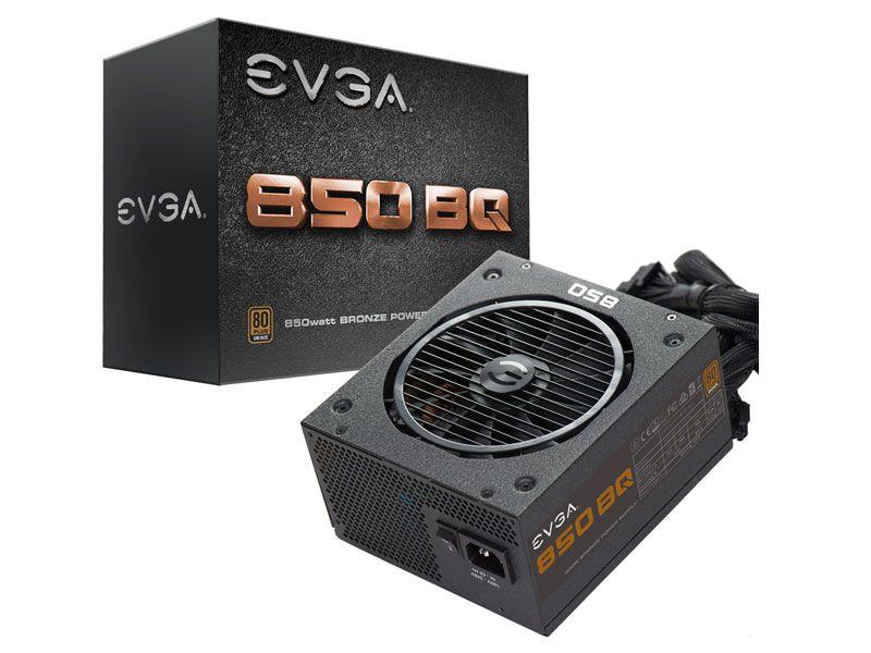 Fonte ATX 850 Watts Reais Semi Modular C/ PFC Ativo EVGA 80% Plus Bronze 110-BQ-0850-V0 BQ