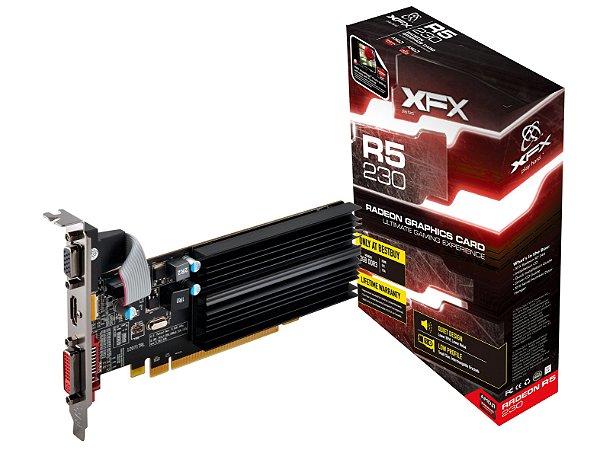 Placa de Vídeo AMD Radeon R5 230 - 2gb DDR3 - 64 Bits XFX R5-230A-CLF2