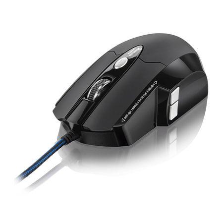 Mouse Gamer Multilaser Pro Laser USB 6 Botões 3200 dpi MO191 Preto