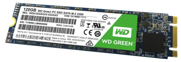 SSD M.2 Western Digital 120gb GREEN WDS120G1G0B-00RC30