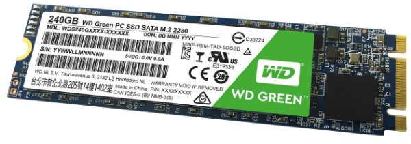 SSD M.2 Western Digital 240gb GREEN WDS240G1G0B-00RC30