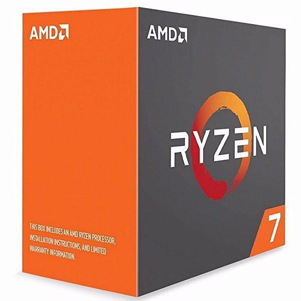 Processador AMD Ryzen 7 1700X 3.4 Ghz (3.8 Ghz Turbo Max) C/ 20Mb Cache OctaCore AM4 - YD170XBCAEWOF
