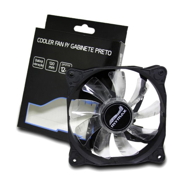 Cooler Fan 12CM P/ Gabinete Mymax Storm 2 Preto MYC/FC-12025-33/BK