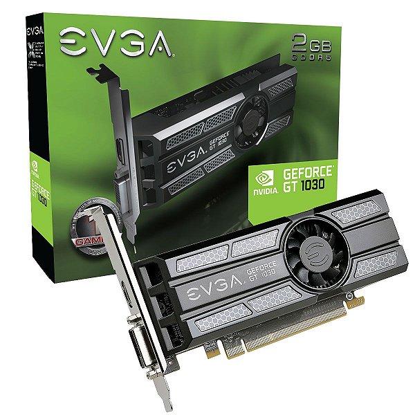Placa de Vídeo Geforce GT 1030 2gb GDDR5 - 64 Bits EVGA 02G-P4-6333-KR