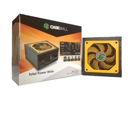 Fonte ATX 500 Watts Potência Real Casemall Total Power Wide ALL-500TPW