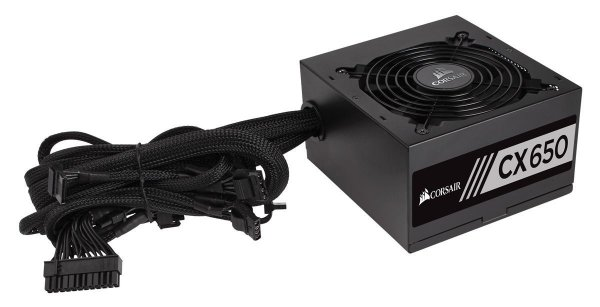 Fonte ATX 650 Watts Reais C/ PFC Ativo CORSAIR CX650 - 80% PLUS Bronze CP-9020122-WW