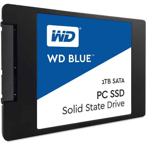 SSD 1 Tera Sata 6gbs Western Digital Blue Leituras: 545MB/s e Gravações: 525MB/s - WDS100T1B0A