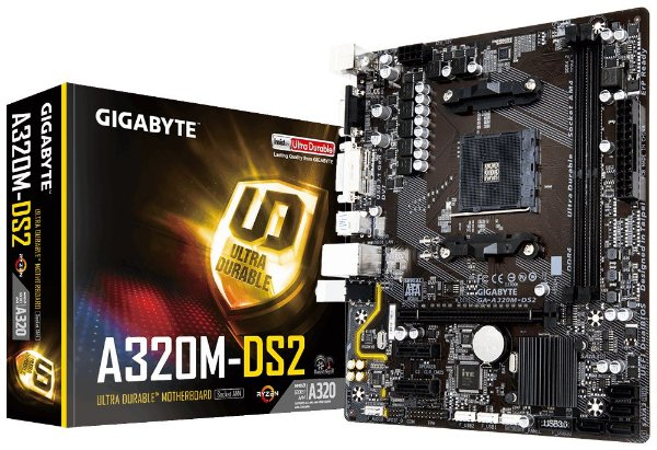 Placa Mãe GIGABYTE p/ AMD AM4 mATX GA-AB350M-DS2 DDR4