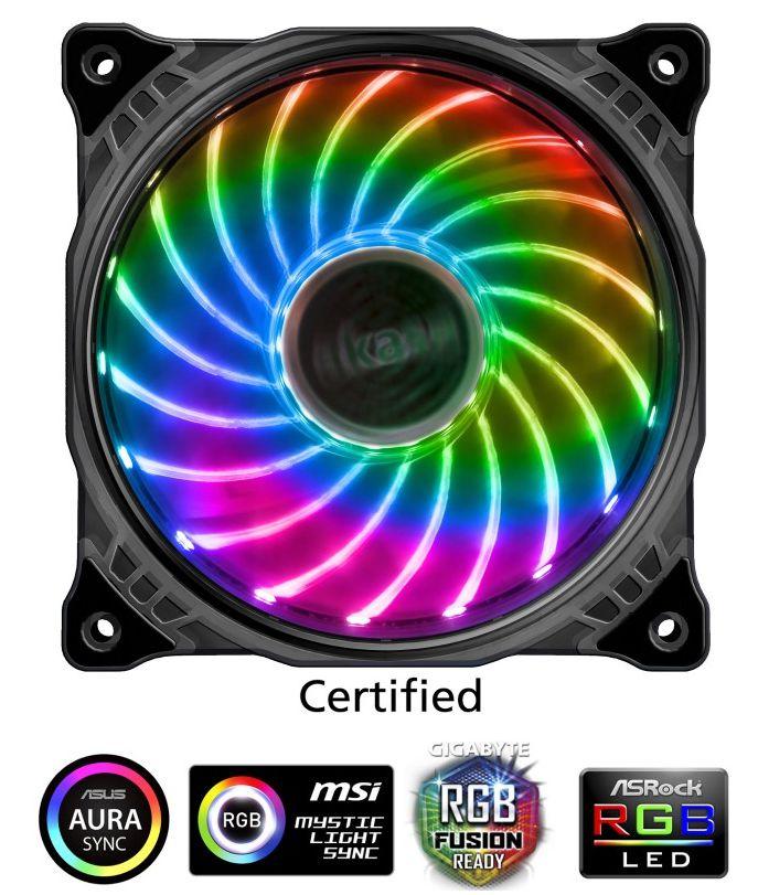 Cooler Fan P/ Gabinete 120MM C/ LED RGB 1200 RPM AKASA Vegas X7 AK-FN093