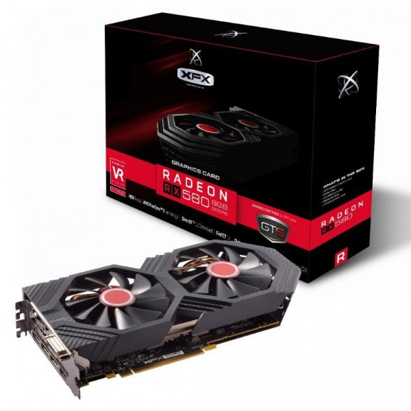 Placa de Vídeo GPU XFX AMD Radeon RX 580 OC+ GTS XXX Edition 8GB GDDR5 1386Mhz - RX-580P8DFD6