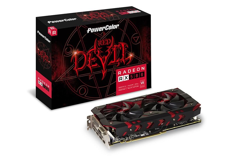 Placa de Video VGA AMD PowerColor RADEON RX 580 8GB DDR5 AXRX580 8GBD5-3DH/OC