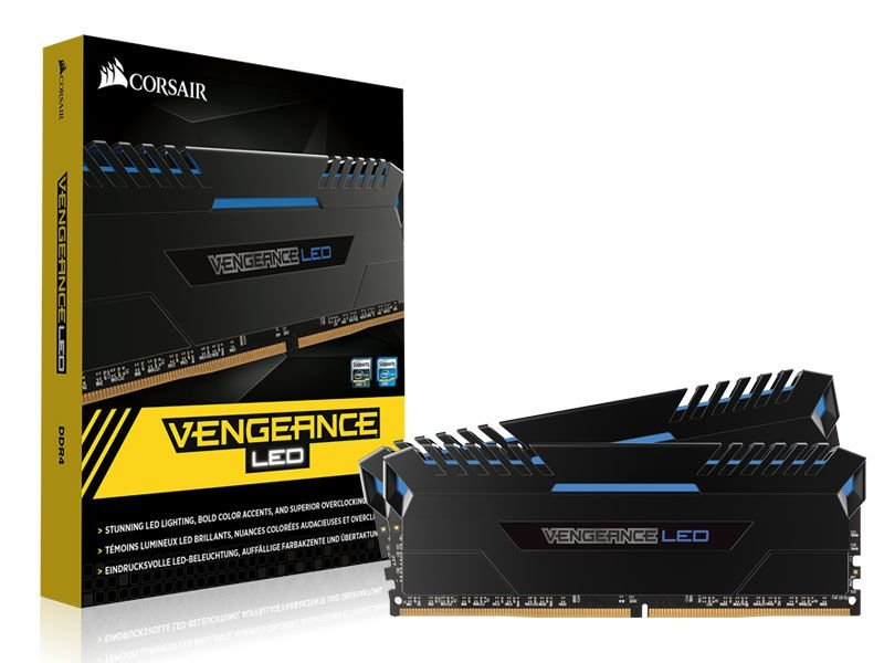 Memória Corsair Vengeance LED 32GB (2x16GB) 3000Mhz DDR4 CL15 Blue - CMU32GX4M2C3000C15B